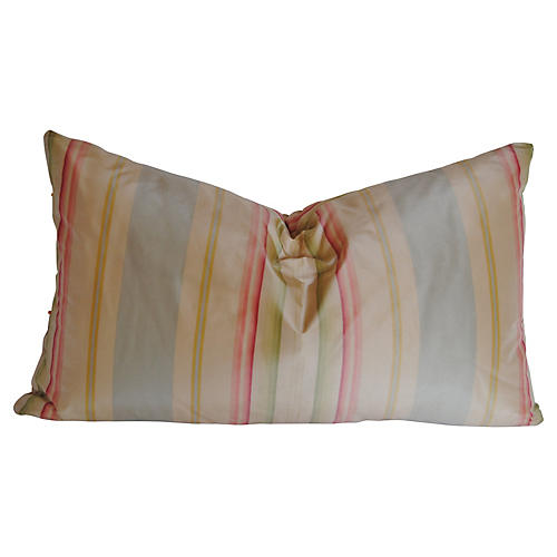 Custom Pillow, Designer Silk Stripe