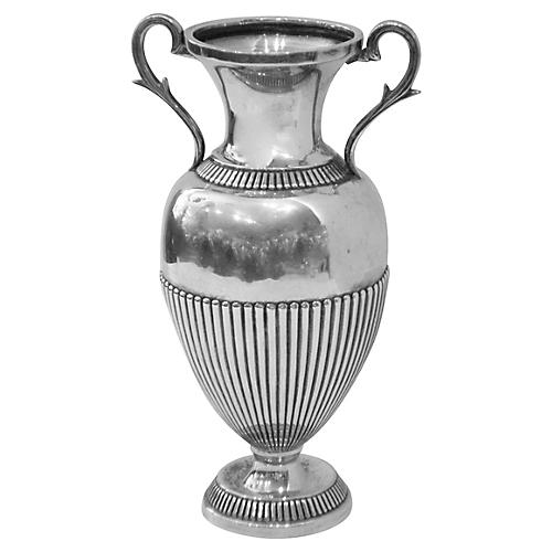 Brazilian Silver Urn-Shaped Vase
