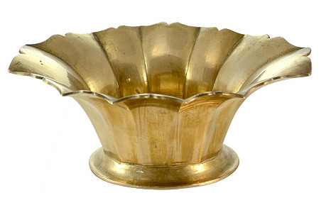 Solid Brass Petal Bowl