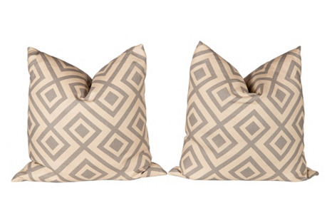 Gray Hicks Fiorentina Pillows, Pair