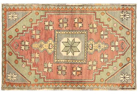 Anatolian Oushak Rug,  2'9