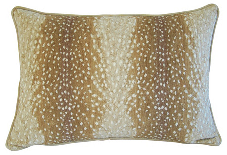 Fawn Speckled Spot Velvet Pillow