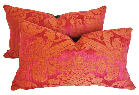 Clarence House Silk Pillows, S/2