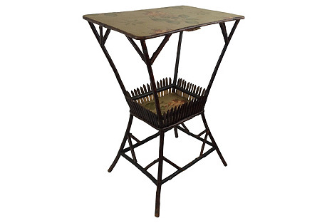 English Folk Twig Side Table