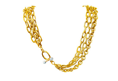 Givenchy Triple-Chain Toggle Necklace