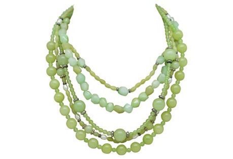 Green Quartz & Agate Necklace