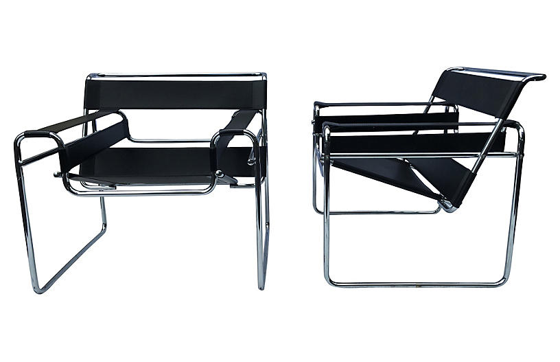 Bauhaus Wassily-Style Lounge Chairs, Pr - Furniture - Sale by Category - Sale