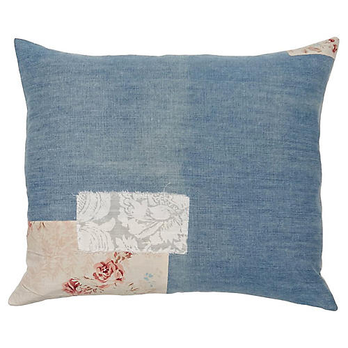 Patchwork Floral Pillow