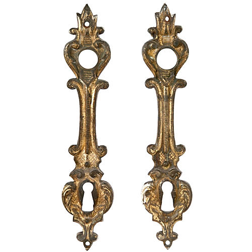French Door Escutcheon Plates, Pr.