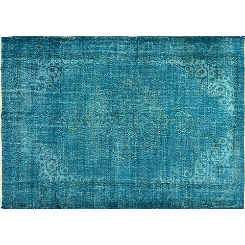 Turkish Overdyed Rug, 7' x 10'2""