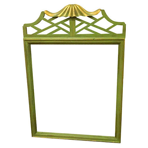 Green Chinoiserie Pagoda Mirror