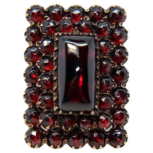 Antique 14K Gold and Garnet Ring