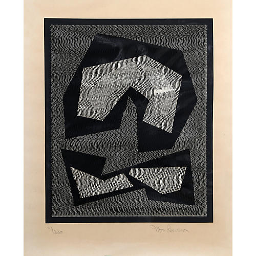 Black & White Abstract by Mon Levinson