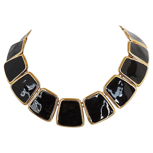 Monet Black Enamel Collar