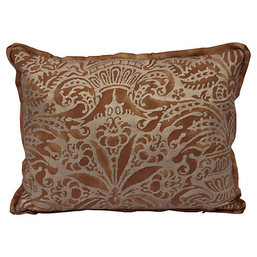 Copper & Gold Fortuny Pillow