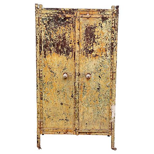 Yellow Metal Cabinet