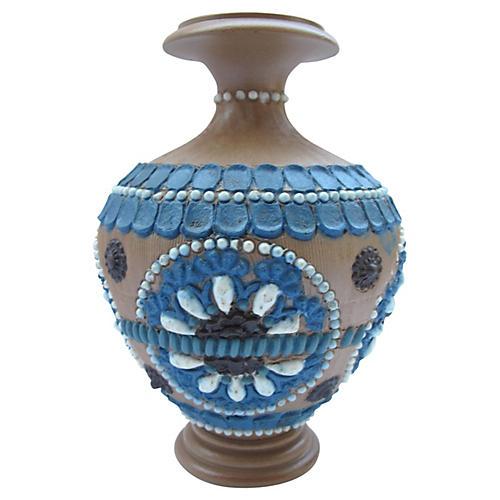 Doulton Lambeth Stem Vase, 1884