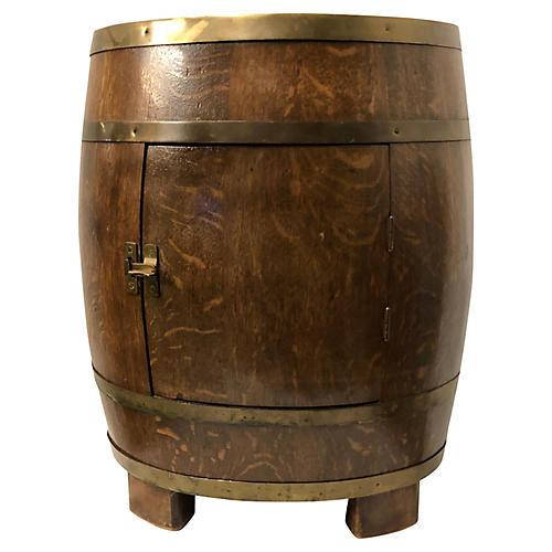 English Oak Barrel Shaped Bar