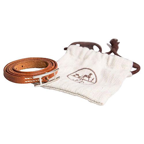Hermès Triple-Wrap Gold Leather Bracelet