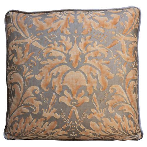 Lucrezia Fortuny Peach & Gold Pillow