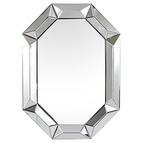 1970s Octagonal Mirror