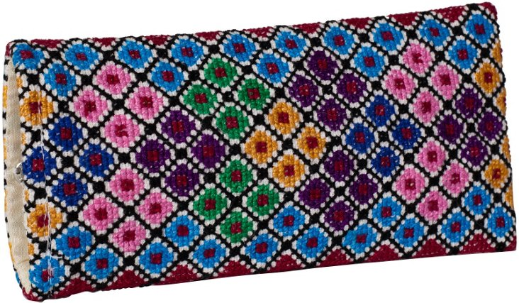Hand-Embroidered Eyeglass Case