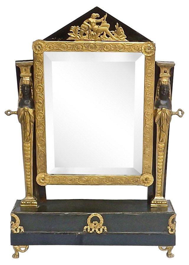Antique French Empire Vanity Mirror