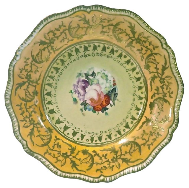 Antique Porcelain Hand-Painted Plate