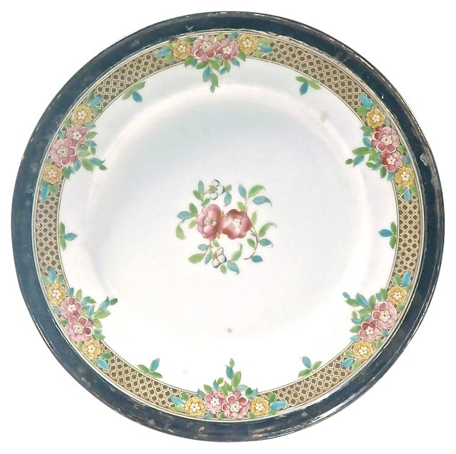 Royal Worcester Sterling Rimmed Plate