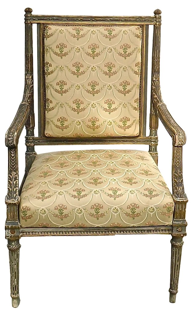 19th-C. French Louis XVI Style  Fauteuil