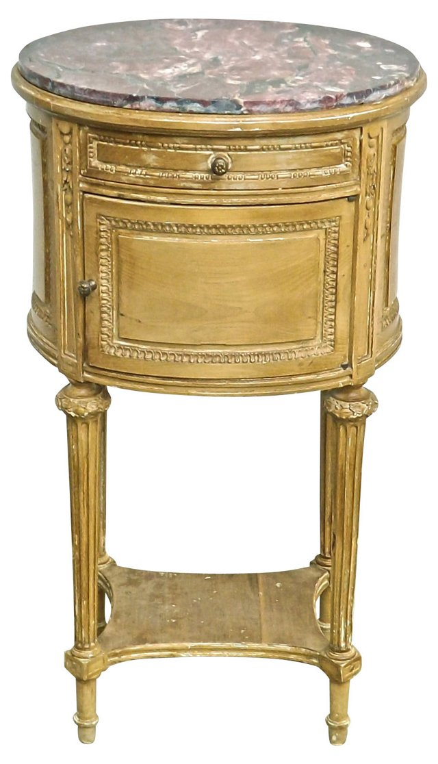 Antique Louis XVI-Style Oval Side Table