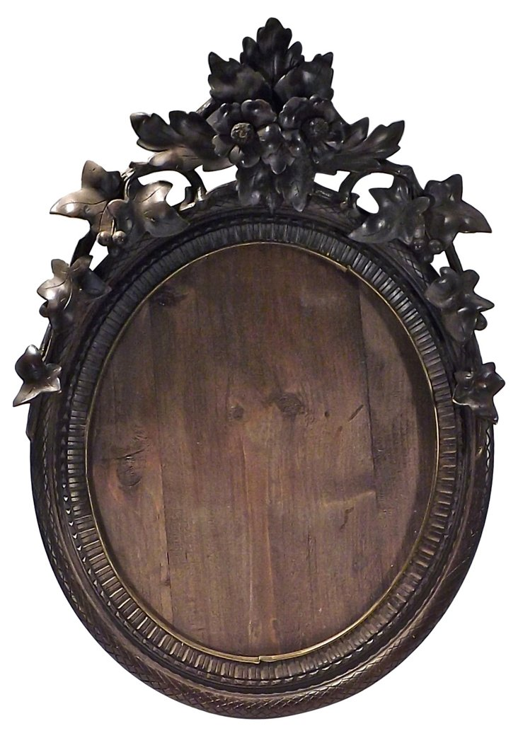 Antique Carved Black Forest Frame