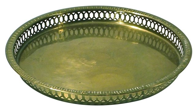 Reticulated Brass Tray