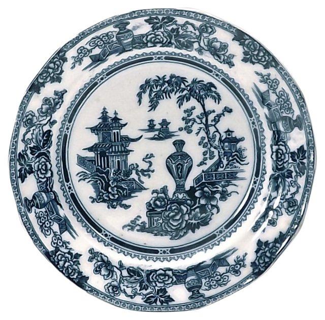 Antique Ironstone Garden Plate