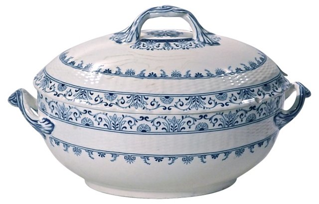 Antique Minton Ceramic Tureen