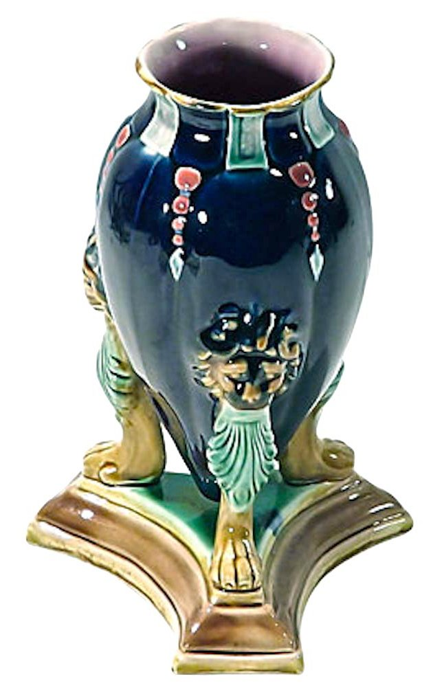 Antique Majolica Holdcroft Vase