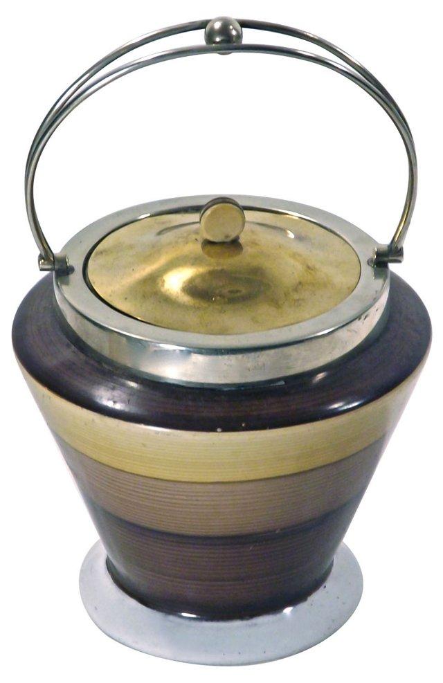 Art Deco English Biscuit Jar