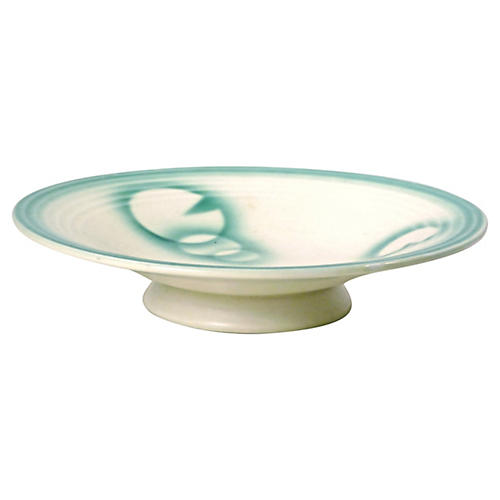 Footed Art Deco Dish w/ Circular Motifs