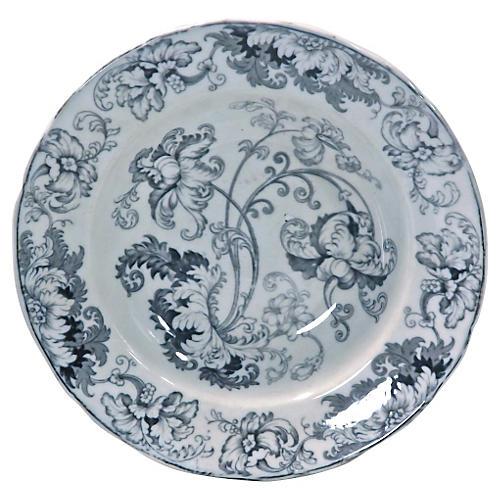 Antique Acanthus Leaf Bowl