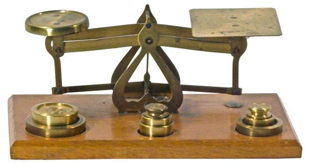Antique Brass Scale