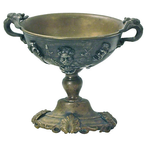 Antique Brass & Bronze Goblet