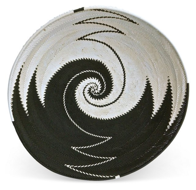 African Swirl-Pattern Beaded Bowl