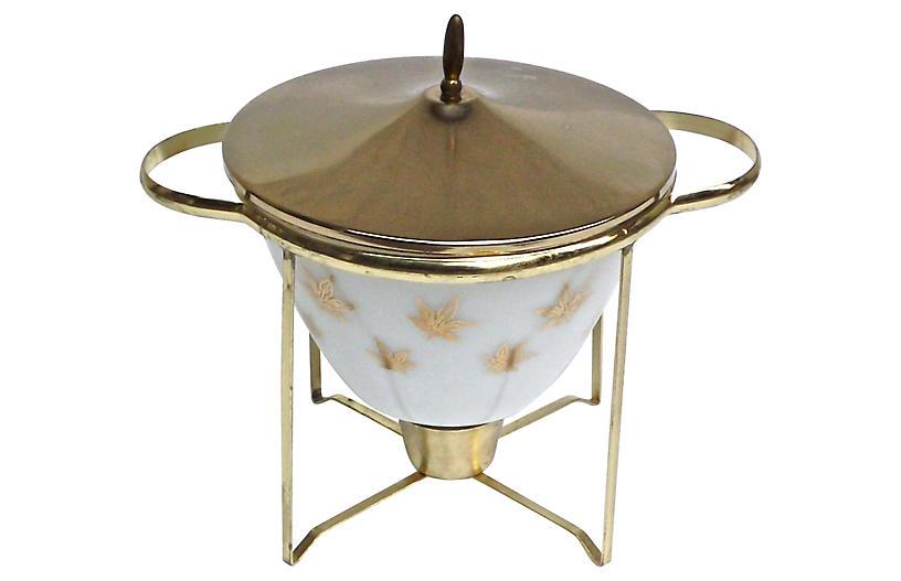 Mid-Century Modern Round Dish Warmer