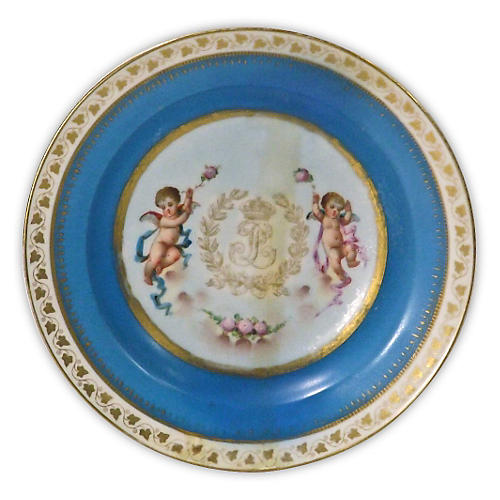 Porcelain Antique Sèvres Cherub Bowl