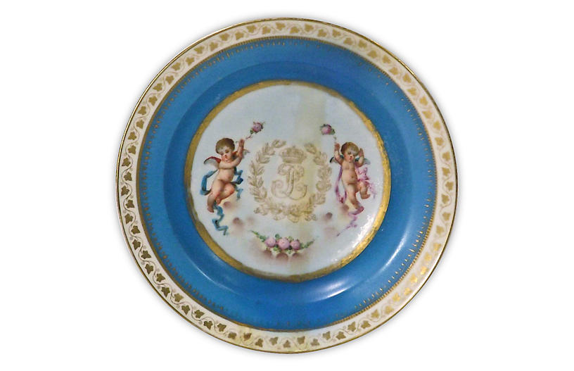 Porcelain Antique Sèvres Cherub Bowl