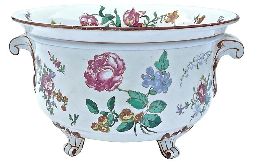 Gien Floral Footed Bowl