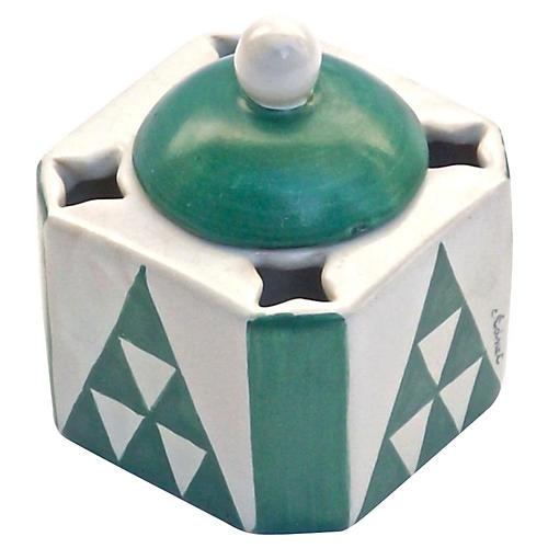 Art Deco Adnet Ceramic Inkwell