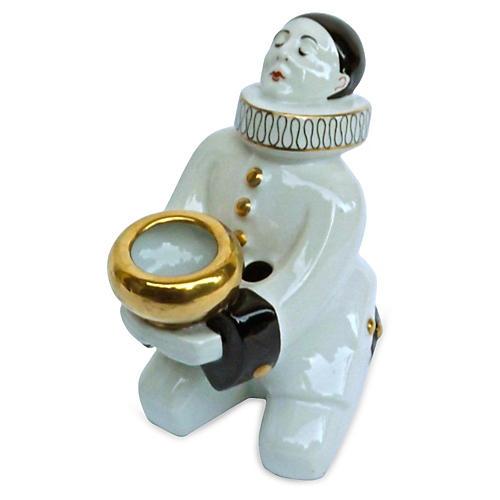 French Deco Robj Pierrot Candleholder