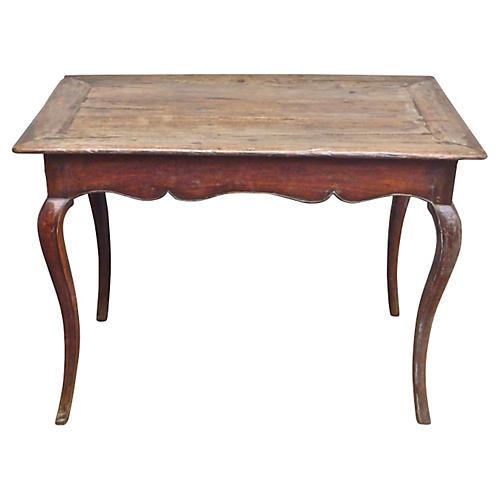 French Cabriole-Leg Side Table