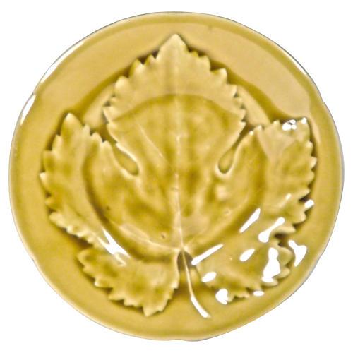 Choisy Le Roi Majolica Maple Leaf Plate